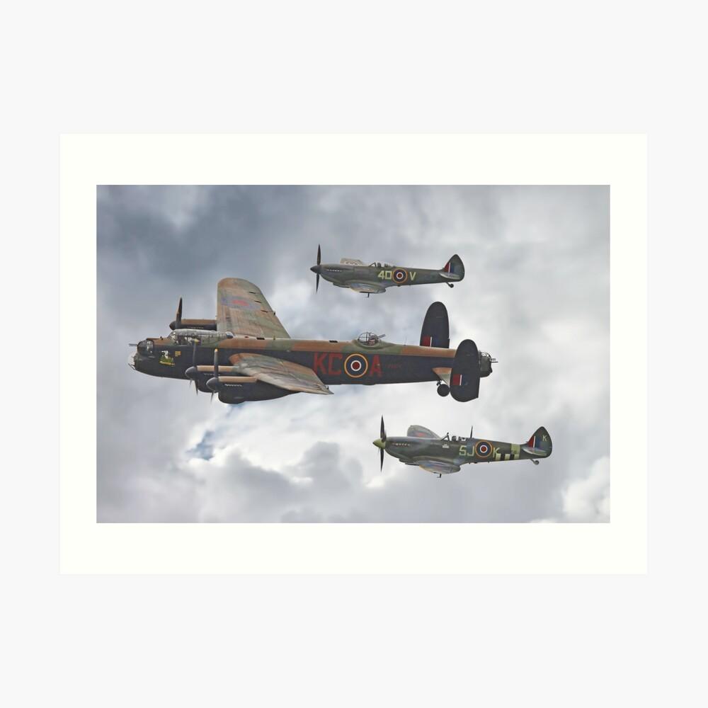 El vuelo conmemorativo de la batalla de Gran Bretaña - Shoreham 2014 Lámina artística