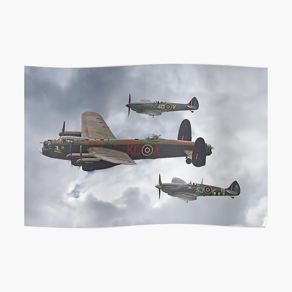 Die Schlacht von Großbritannien Memorial Flight - Shoreham 2014 Poster
