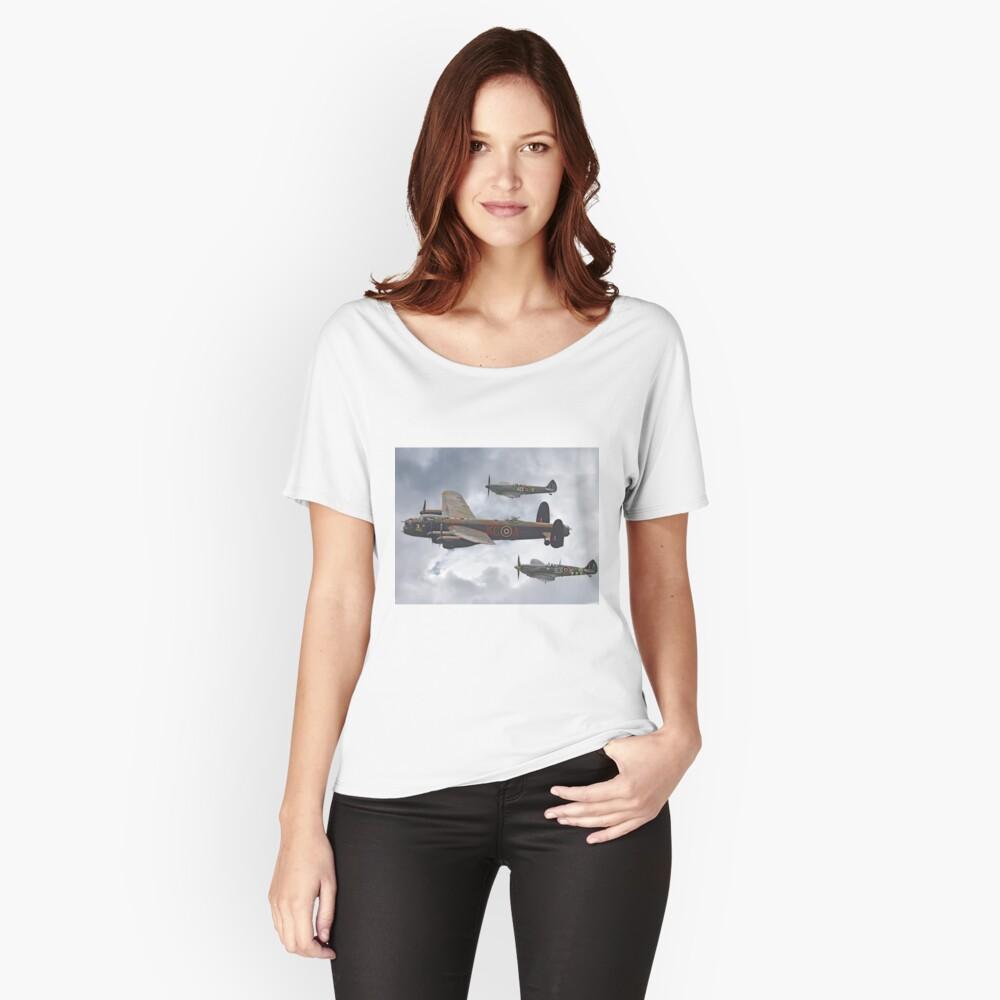 El vuelo conmemorativo de la batalla de Gran Bretaña - Shoreham 2014 Camiseta ancha