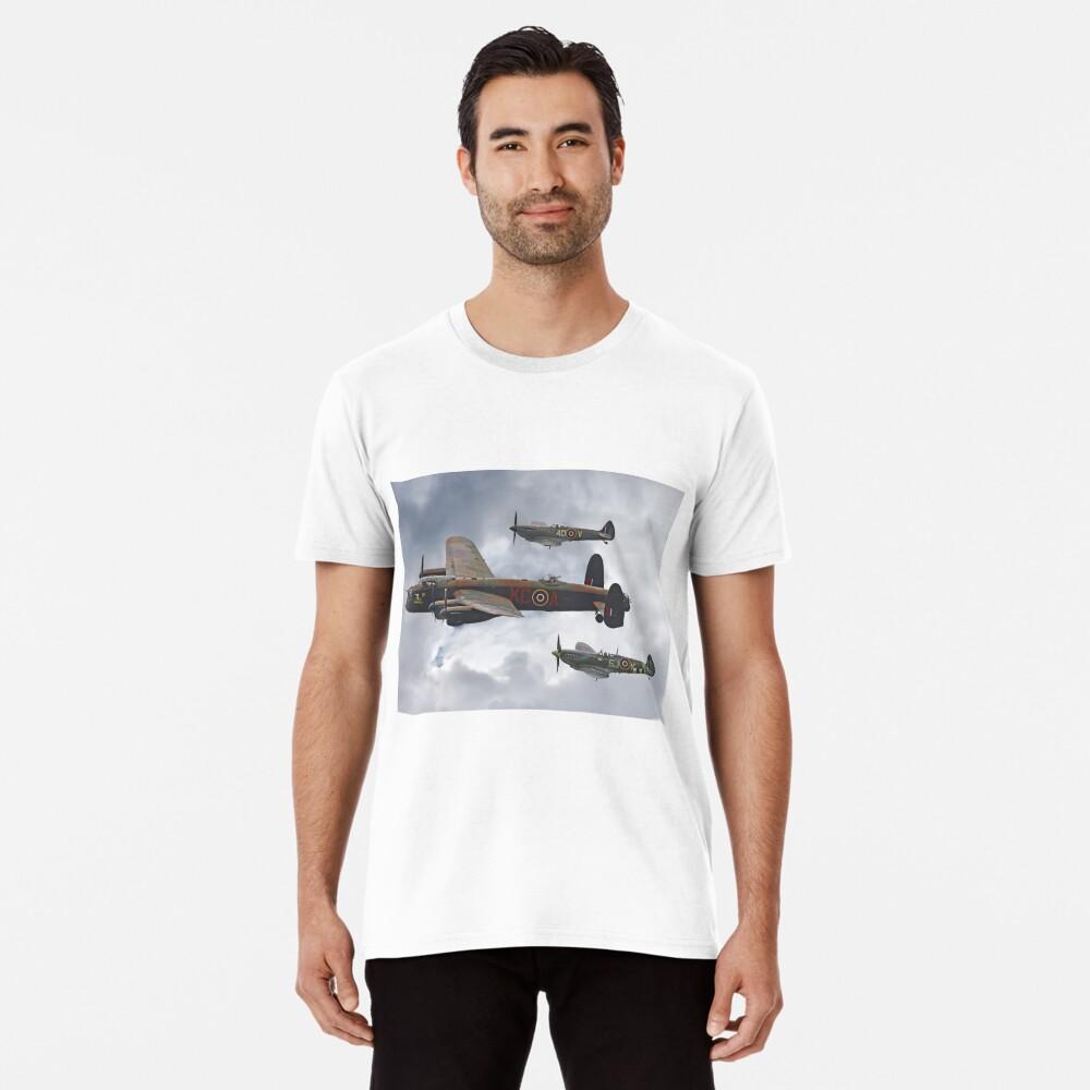 El vuelo conmemorativo de la batalla de Gran Bretaña - Shoreham 2014 Camiseta premium