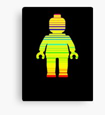 Striped Minifig Canvas Print