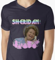 SHERIDAN WOULD BE APPALLED KEEPING UP APPEARANCES V-Neck T-Shirt