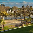 Birrarung Marr Sunny Winter Afternoon Melbourne Vic Aus by PhotoJoJo