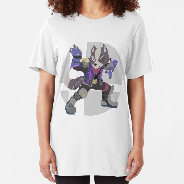 Wolf - Super Smash Bros. Ultimate Slim Fit T-Shirt