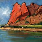 Glen Helen Gorge, Alice Springs by Roz McQuillan