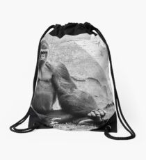 What Are You Looking At? Drawstring Bag