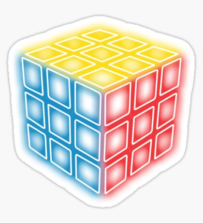 Neon Rubix Remix Sticker