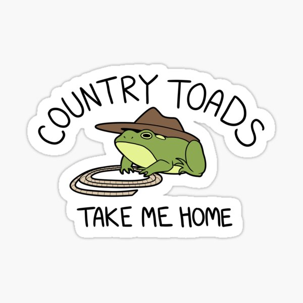 Country Toads Sticker
