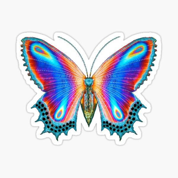 halsey multicolor butterfly Sticker