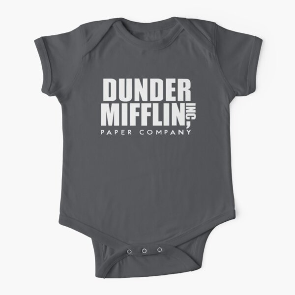 Dunder Mifflin Paper Company Logo Short Sleeve Baby One-Piece