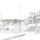 Paris Seine-Skizze von acceberwokfel