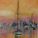 Dawn over Williamstown Victoria by Lynne Kells (earthangel)