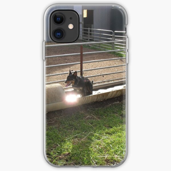 Kelpie cooling off iPhone Soft Case
