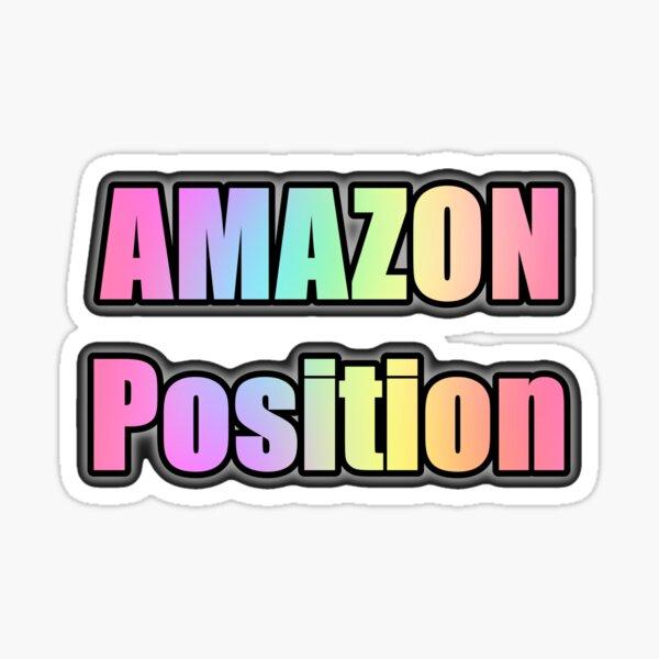 Posición AMAZON - (transparente) Pegatina