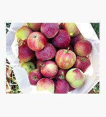 apples in a basket Photographic Print