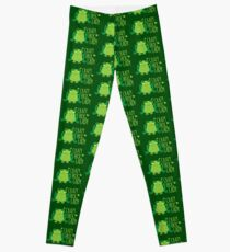 Crazy Frog Lady (New)  Leggings