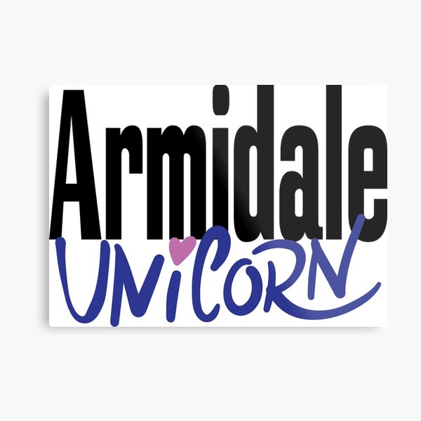 Armidale Unicorn New South Wales Australia Raised Me Metal Print