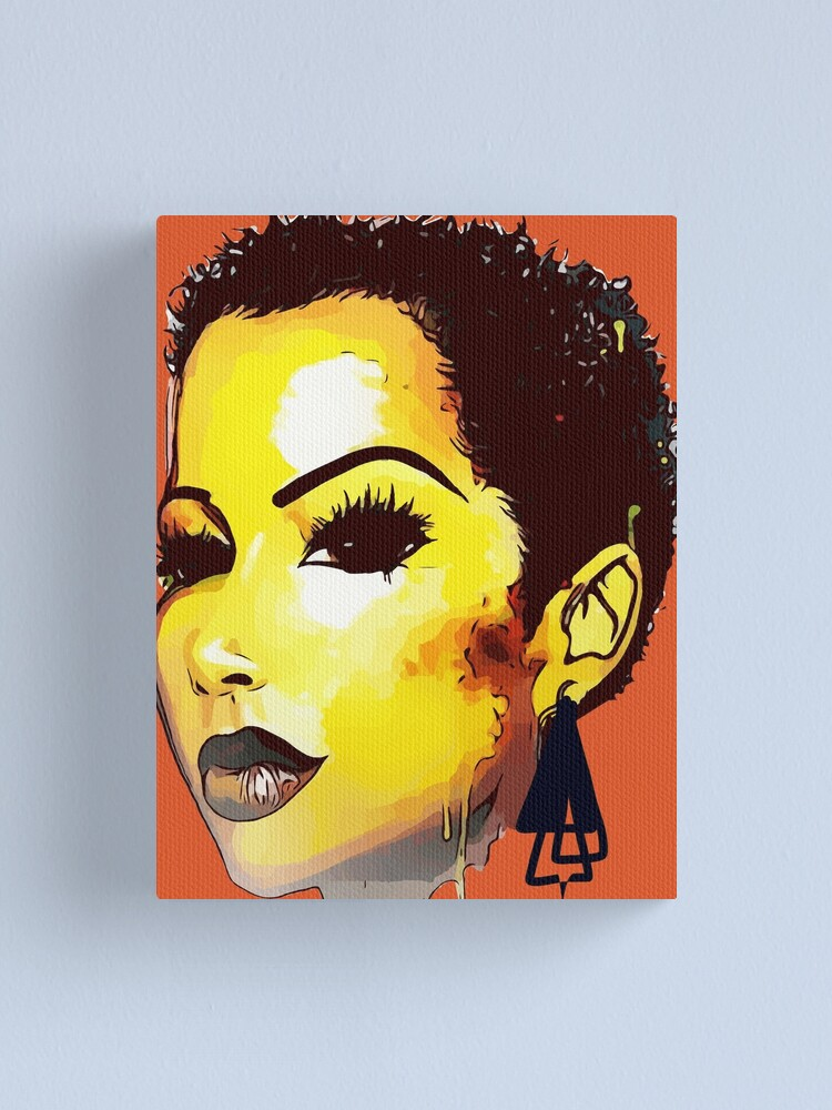 Alternate view of Twa Natural HairStyle Sly Dope Short Afro Canvas Print