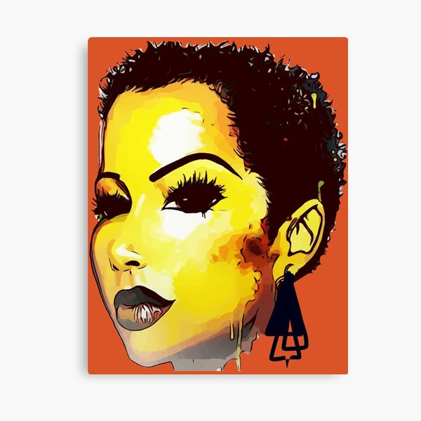 Twa Natural HairStyle Sly Dope Short Afro Canvas Print