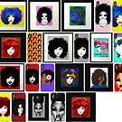 Natural Hair Art Stickers Art Collections by EllenDaisyShop
