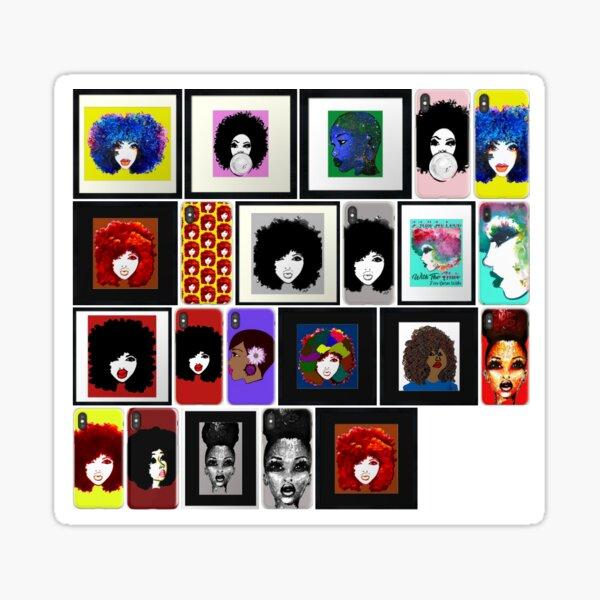 Natural Hair Art Stickers Art Collections Sticker