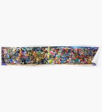 Super Smash Bros Ultimate - All 74 Characters Mural Poster