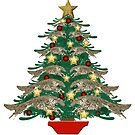 Leaping Borzoi Christmas Tree by Happy Dog Swag