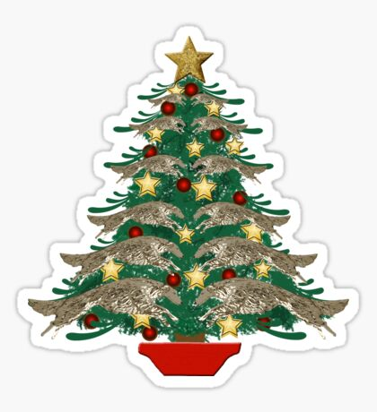 Leaping Borzoi Christmas Tree Sticker