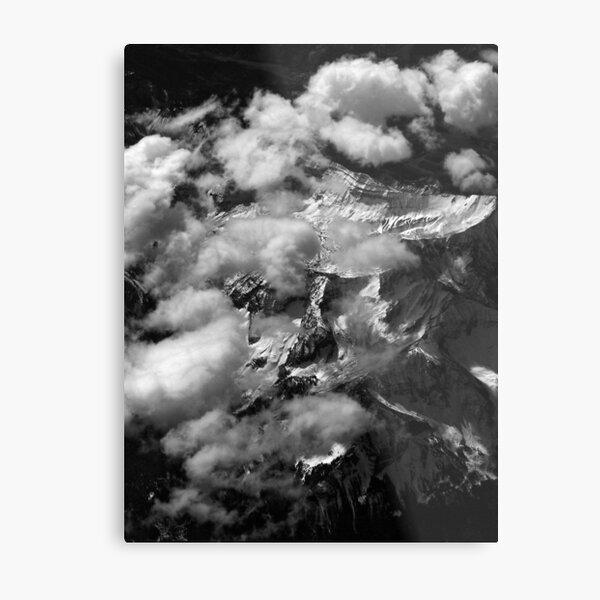Peaks and Clouds Metal Print