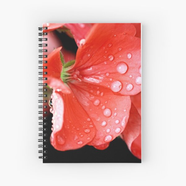 """""""Drops of Red"""" Spiral Notebook"""
