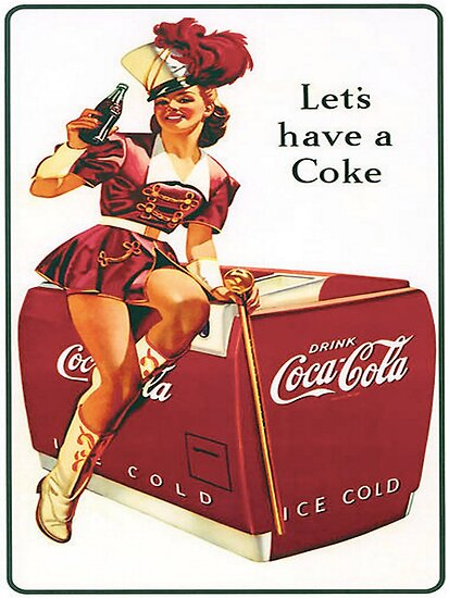 'Retro Coca Cola Ad Poster 123' Poster by rhudkins