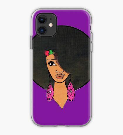 Indian Women Beautiful Afro Sista  iPhone Case