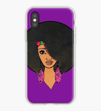 Indische Frauen schöne Afro Sista iPhone-Hülle & Cover