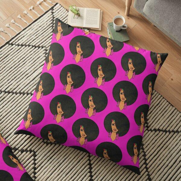 Indian Women Beautiful Afro Sista  Floor Pillow