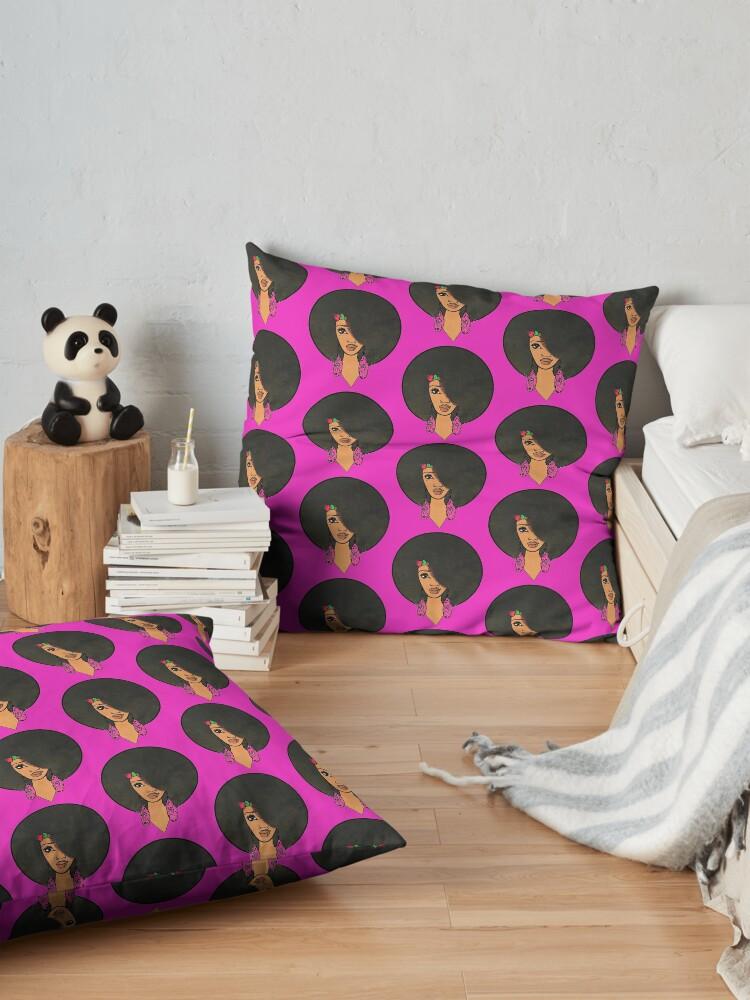 Alternate view of Indian Women Beautiful Afro Sista  Floor Pillow