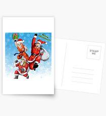 Christmas Goku, Krillin and Roshi Postcards