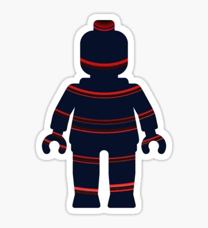 Minifig with Curved Stripes Sticker