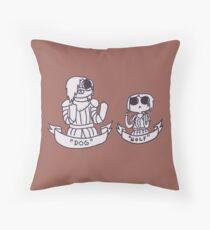 Arya and The Hound Throw Pillow