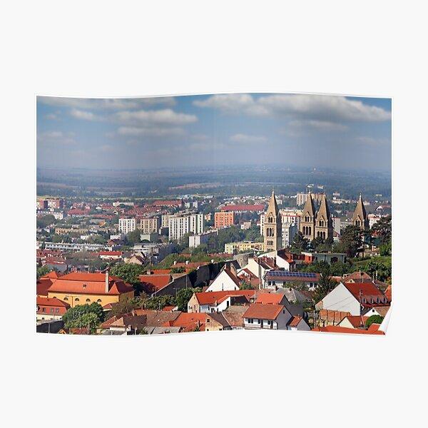 cityscape Pecs Hungary Poster
