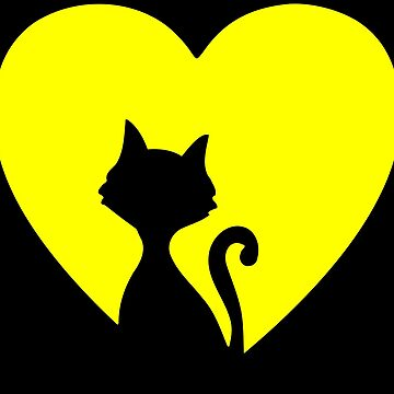 Cat Love Heart Graphic For Cat Lover by xsylx