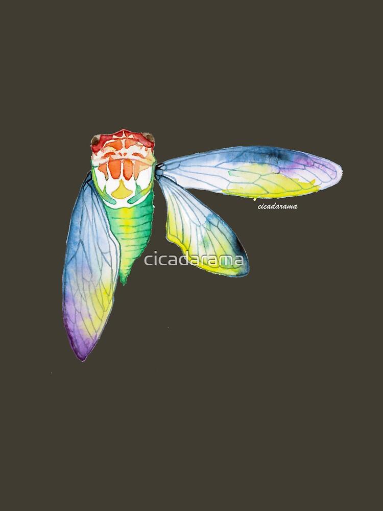 Cicada watercolour (dark shirts) by cicadarama