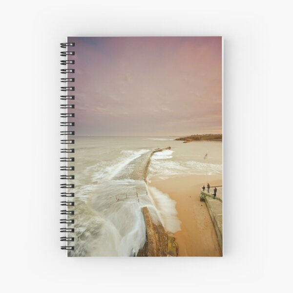Avoiding the waves Spiral Notebook