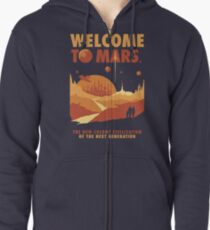 Welcome to Mars Zipped Hoodie