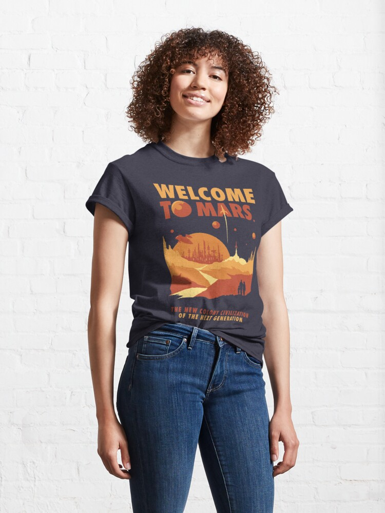 Alternate view of Welcome to Mars Classic T-Shirt
