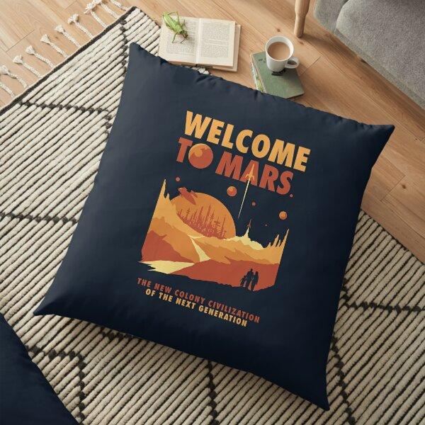 Welcome to Mars Floor Pillow