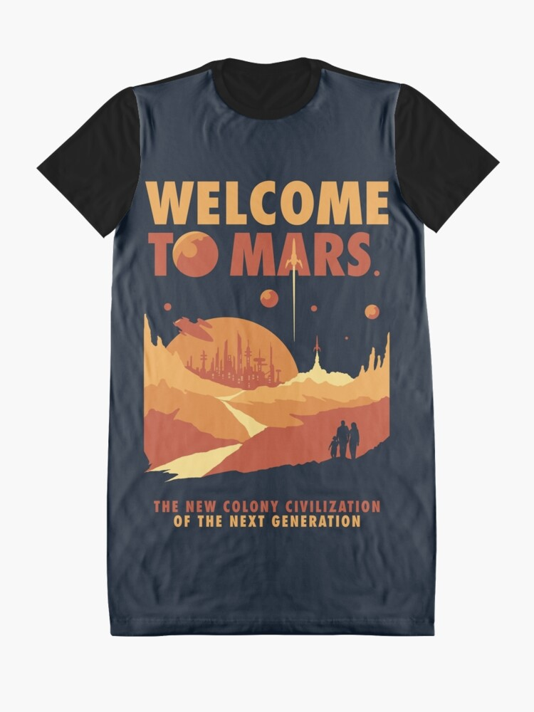 Alternate view of Welcome to Mars Graphic T-Shirt Dress