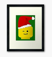 Santa Minifig by Customize My Minifig Framed Print