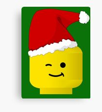 Santa Minifig by Customize My Minifig Canvas Print
