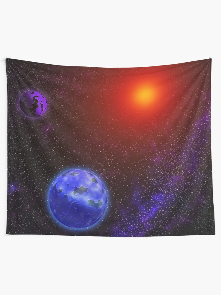 A Colorful Galaxy Of Beautiful Planets Magnetic Space Tapestry By Maribg Redbubble