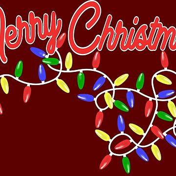 Merry Christmas with Light Chain Graphic Text by xsylx